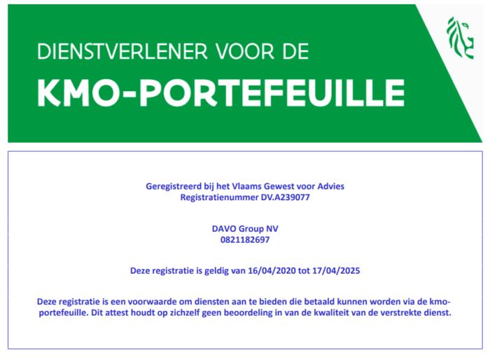 DAVO GRoup KMO portefeuille