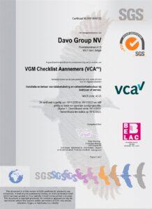 VCA Certificaat DAVO Group